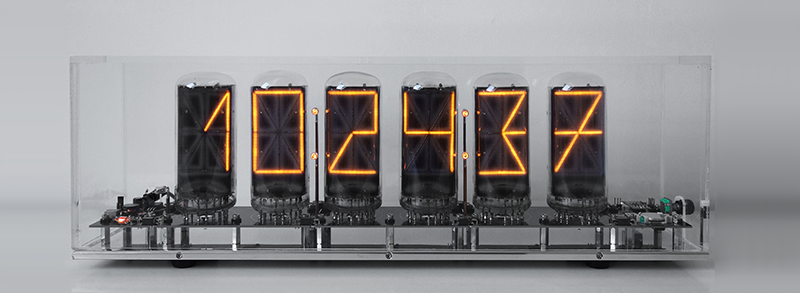"14 segment nixie clock with 2,5"" symbol height (B-7971)"