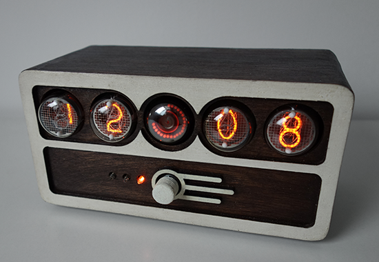 nixie clock with IN-4 and dekatron counting-tube (OG-4)