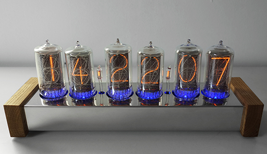 "nixie clock with 1,2"" digit height (Z5660M)"