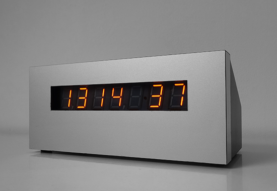 "7 segment panaplex clock with 0,7"" digit height"